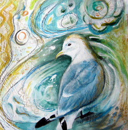 Original painting Kittiwake Gull