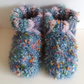 Adult Slipper Socks, thick and fluffy, hand crochet
