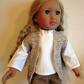 Waistcoat to fit 18in doll, hand crochet doll clothes, sleeveless cardigan