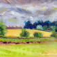 Harvest time - Original oil painting of English landscape