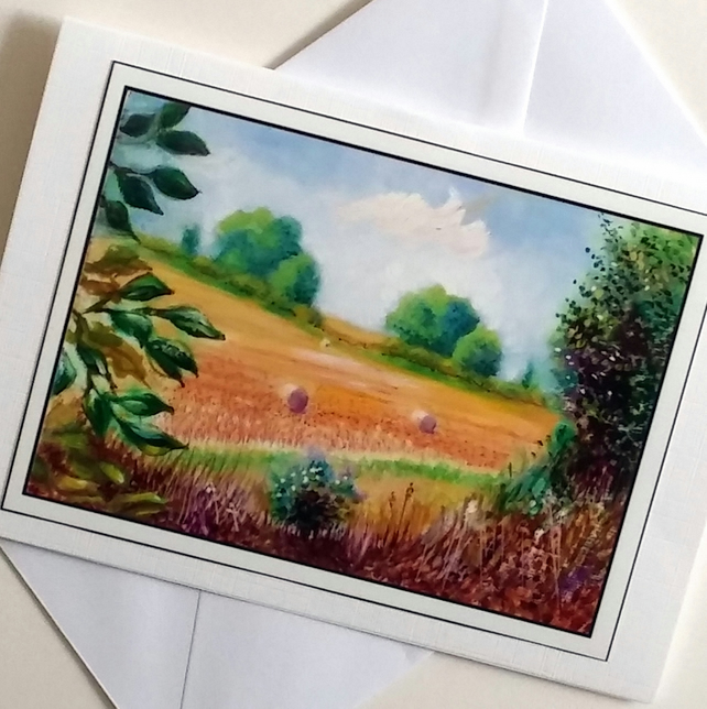 Greeting card After the Harvest  from my original painting