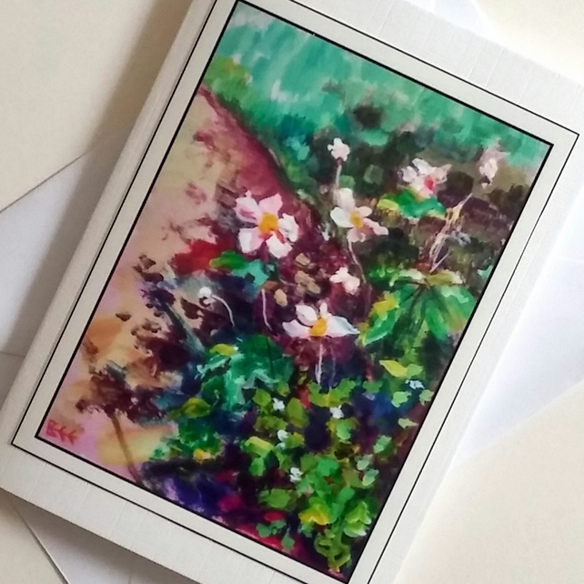 Greeting card Flower Garden from my original painting