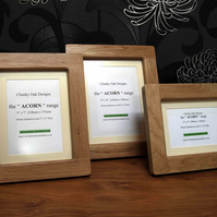 "10"" x 8"" Picture Photo Frame from the ""Acorn"" range by Chunky Oak Designs"