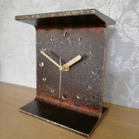 RSJ Clock - Reclaimed Iron Beam