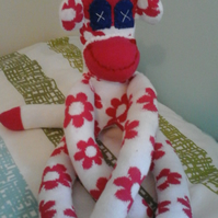 Handmade  sock monkey OOAK