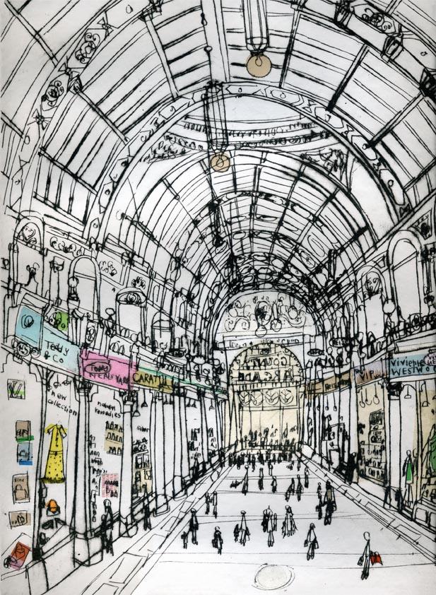 BOUTIQUE SHOPPING ARCADE LEEDS Yorkshire England - Signed Limited Edition Giclee