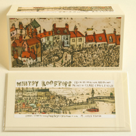 WHITBY NORTH YORKSHIRE COAST Handmade Cards x 4 - Robin Hoods Bay & Staithes