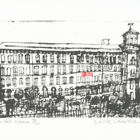 SALTS MILL SALTAIRE Yorkshire Handmade Original Screenprint Clare Caulfield
