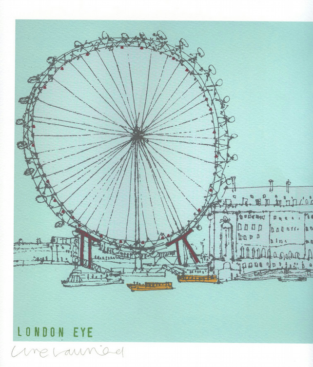 THE LONDON EYE SOUTHBANK  Signed Limited Edition Giclee print