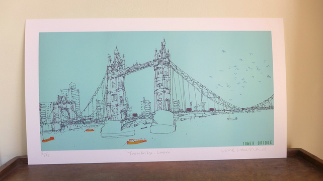 TOWER BRIDGE LONDON  Signed Limited Edition Giclee print