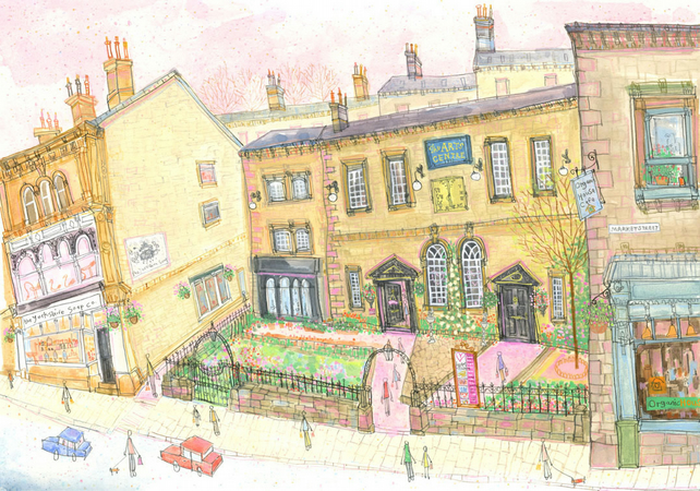 HEART GALLERY, HEBDEN BRIDGE Yorkshire - Signed Limited Edition Giclee Print