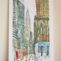 GLASERS BAKE SHOP NYC - Chrysler Building New York Limited Edition Giclee print