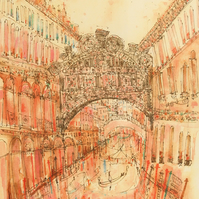 BRIDGE OF SIGHS VENICE - Signed Limited Edition Giclee Print