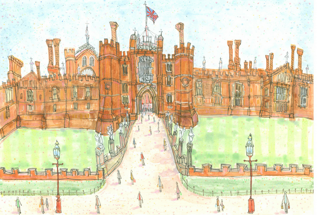 HAMPTON COURT PALACE - Limited Edition Art Print from watercolour