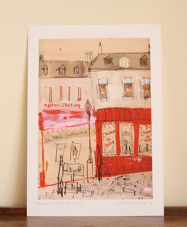MAISON CATHERINE PARIS - Signed Giclée Print from original mixed-media painting