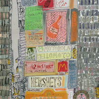 DUNKIN DONUTS NYC Times Square New York - Ltd Edition Giclee print