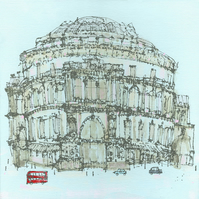 ROYAL ALBERT HALL LONDON  Signed Limited Edition Giclee print