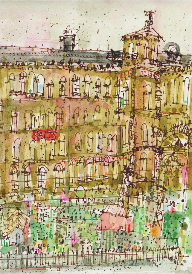 SALTS MILL WATERCOLOUR - Saltaire Village Yorkshire, Signed Ltd Giclee Print