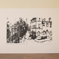 Saltaire Albert Terrace Screenprint Hand pulled print