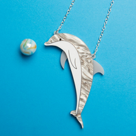 Dolphin necklace - laser cut acrylic