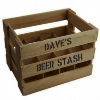 PERSONALISED BEER CRATE