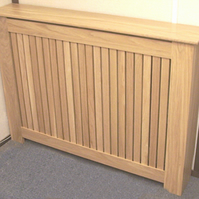 SOLID OAK SLATTED RADIATOR COVER