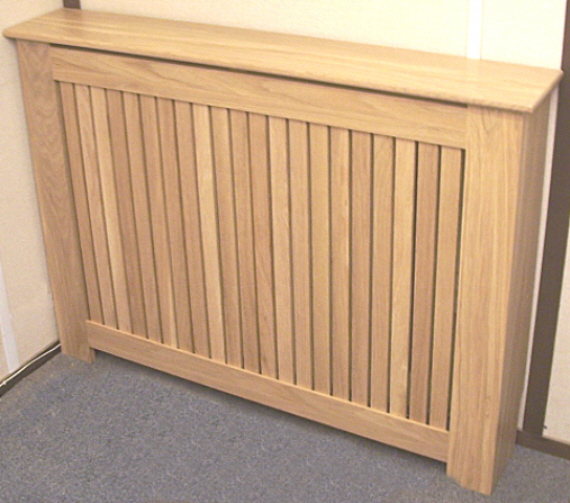 SOLID OAK SLATTED RADIATOR COVER (LARGE)