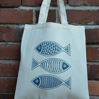 Three Fish Tote Bag