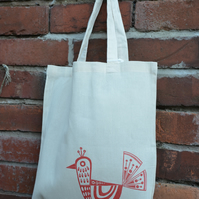 Folk Bird Tote Bag