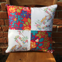 English Cottage Vintage and Liberty Cushion Cover