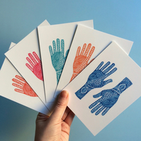 Mehndi Hands Postcard Pack