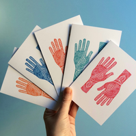 Mehndi Hands Greetings Card Pack