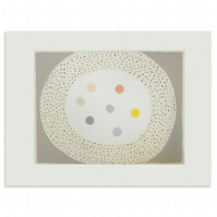 'Nest & Eggs', large original abstract screen print on finest quality paper.