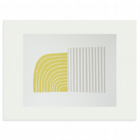 Scandinavian home. modern abstract original handmade silkscreen print.