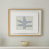 Small abstract print, original Print, modern screenprint, inspired by Matisse.