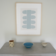 Large modern botanical screenprint, handmade on beautiful paper, Emma Lawrenson