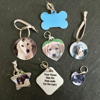 Gorgeous Personalised Photo Dog Cat ID Tag
