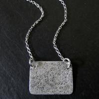 Landscape Textured Sterling Silver Photo Locket