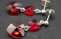 Earrings- Swarovski hearts