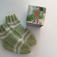 Hand knitted baby socks