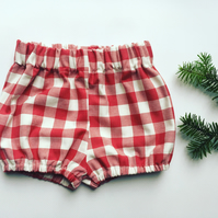 Red checked Christmas bloomers