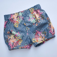Navy floral bloomers