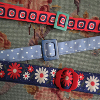 FABRIC BELT - three patterns to choose from!