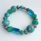 Turquoise & Sea Green Beaded Bracelet