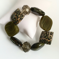 Green Mixed Bead Bracelet