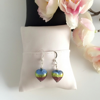 Murano Glass & Silver Earrings