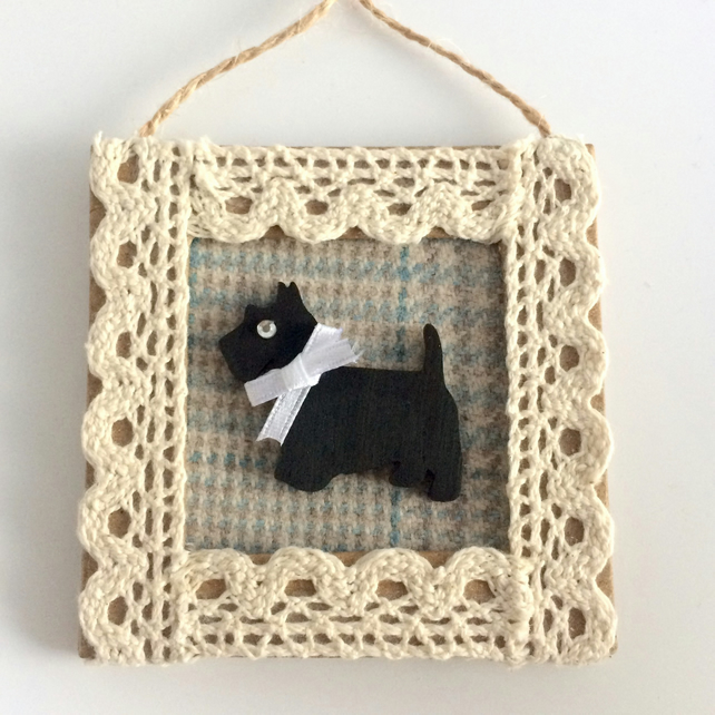 Scottie Dog Mini Frame Picture