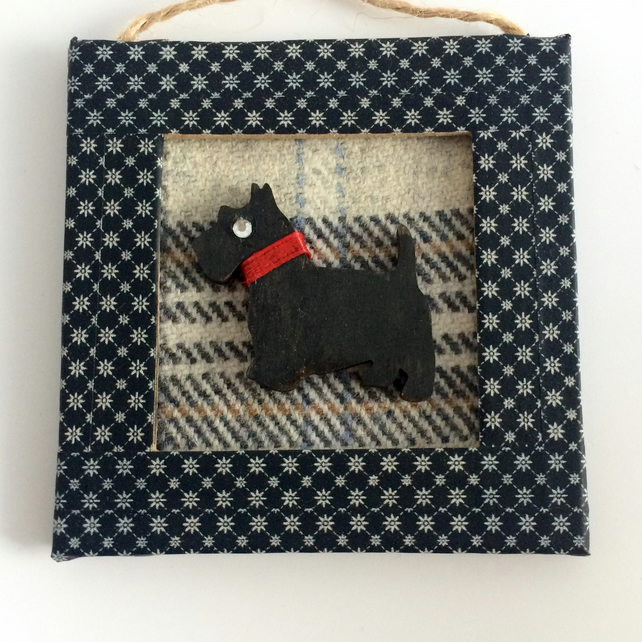 Black Scottie Dog Mini Frame Picture
