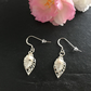 Silver Leaves and Pearl Earrings