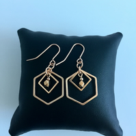 Rose Gold Plated Geometric Earrings